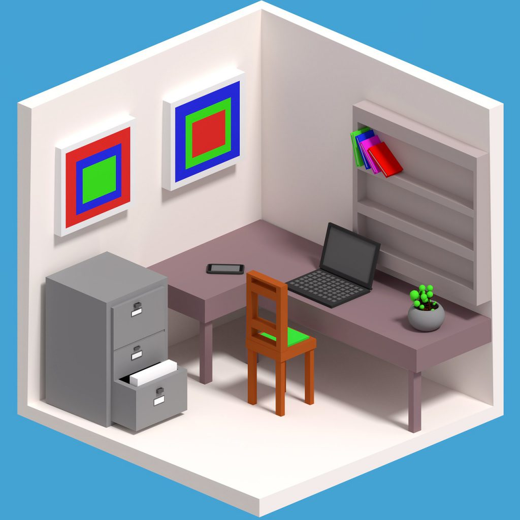 cartoon, work, isometric